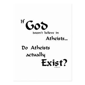 Do atheists exist? postcard