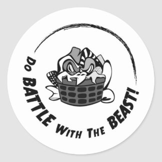 Do Battle with the Beast! Classic Round Sticker