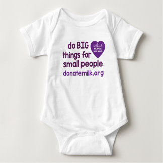 do BIG things for small people Baby Bodysuit