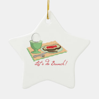 Do Brunch Double-Sided Star Ceramic Christmas Ornament