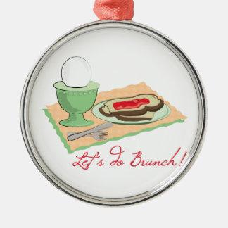 Do Brunch Round Metal Christmas Ornament