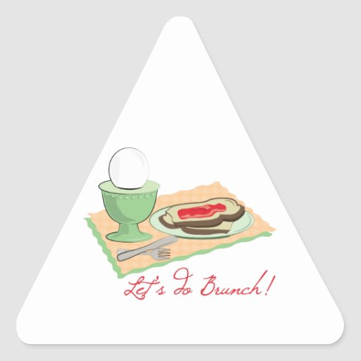 Do Brunch Triangle Stickers