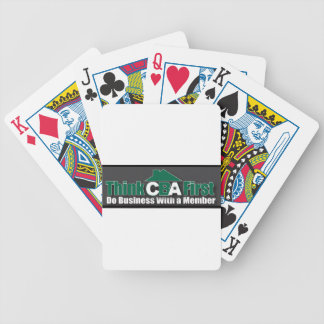 Do Business WIth A Member Bicycle Playing Cards