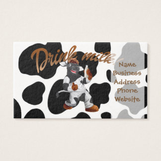 Do Cows Drink Milk Cow With Milk Bottle Business Card