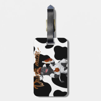 Do Cows Drink Milk Cow With Milk Bottle Luggage Tag