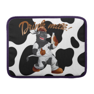 Do Cows Drink Milk Cow With Milk Bottle MacBook Air Sleeve