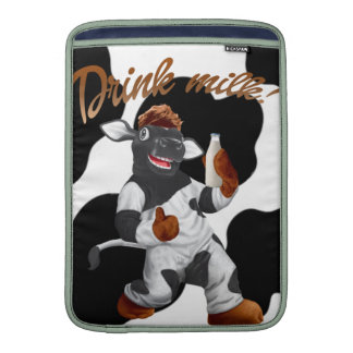 Do Cows Drink Milk Cow With Milk Bottle Sleeve For MacBook Air