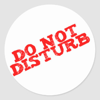 DO emergency disturb Classic Round Sticker