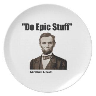 Do Epic Stuff Abraham Lincoln Dinner Plates