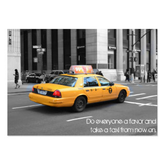 Do Everyone A Favor And Take A Taxi Large Business Card