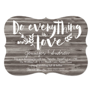 Do Everything in Love Bridal Card