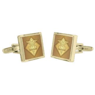 DO (gold)(diamond) Gold Cufflinks