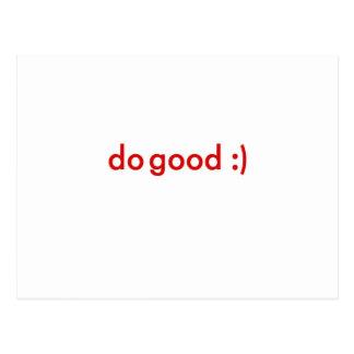 Do Good :) Postcard