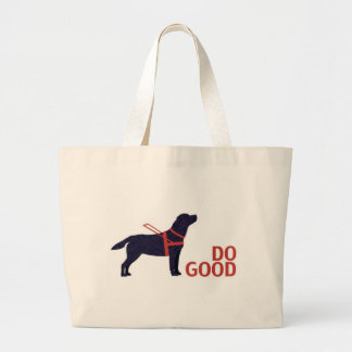 Do Good - Service Dog - Black Lab Tote Bags
