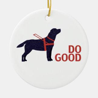 Do Good - Service Dog - Black Lab Ceramic Ornament