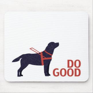 Do Good - Service Dog - Black Lab Mouse Pad