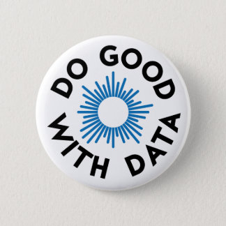 Do Good With Data Badge Pinback Button