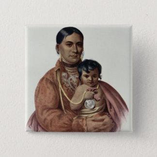Do-Hon-Go, an Osage Woman Button