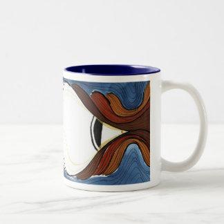 Do I Dare Eat a Peach? Two-Tone Coffee Mug