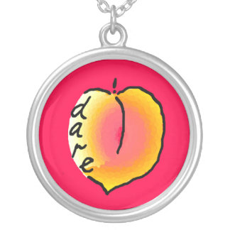 """Do I dare?"" T.S. Eliot Peach Necklace"