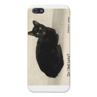 Do I feel lucky? Black CAt California Products iPhone SE/5/5s Case