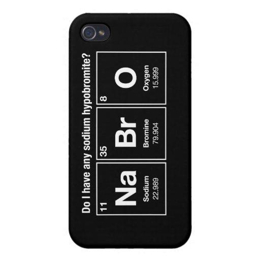 Do I have any sodium hypobromite? NaBrO! iPhone 4 Cases