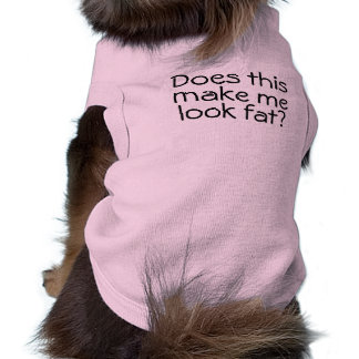 Do I Look Fat Funny Doggie Tank Top Pink for Dogs