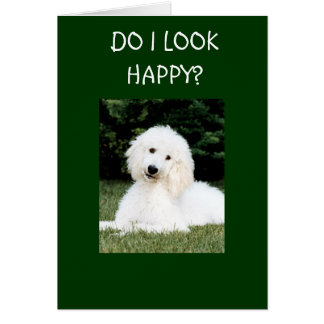 DO I LOOK HAPPY? CARD