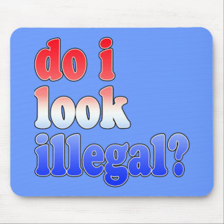 Do I Look Illegal? Tshirts, Buttons and More Mousepads