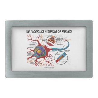 Do I Look Like A Bundle Of Nerves? Neuron Synapse Rectangular Belt Buckles