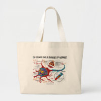 Do I Look Like A Bundle Of Nerves? Neuron Synapse Jumbo Tote Bag