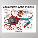 Do I Look Like A Bundle Of Nerves? Neuron Synapse Print