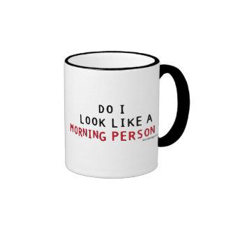 Do I Look Like a Morning Person? Ringer Mug