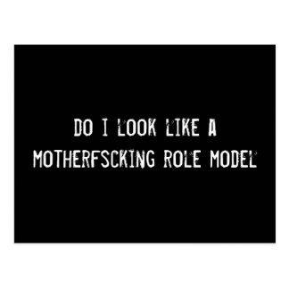 do i look like a motherfscking role model postcard