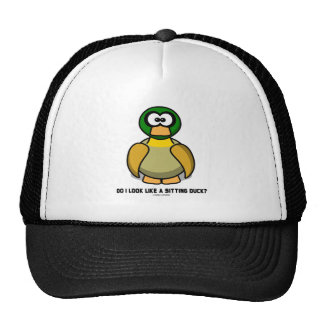Do I Look Like A Sitting Duck? (Cartoon-Like Duck) Trucker Hat