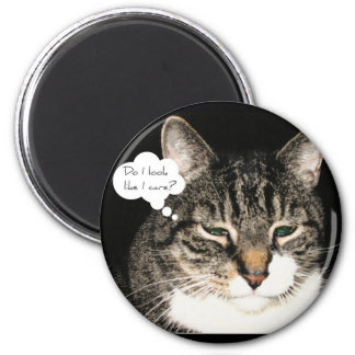 Do I look like I care? 2 Inch Round Magnet