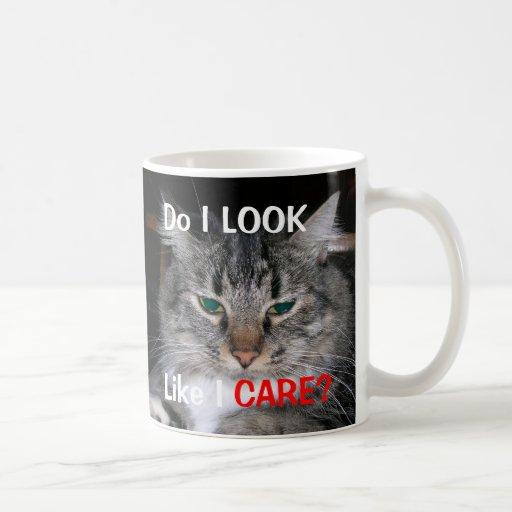 Do I look like I care cat mug