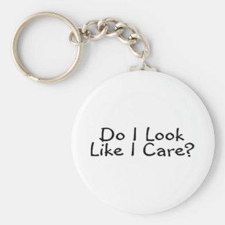 Do I Look Like I Care Keychain