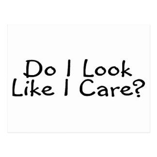 Do I Look Like I Care Postcard