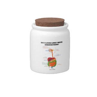 Do I Look Like I Have Indigestion? (Medical Humor) Candy Jars