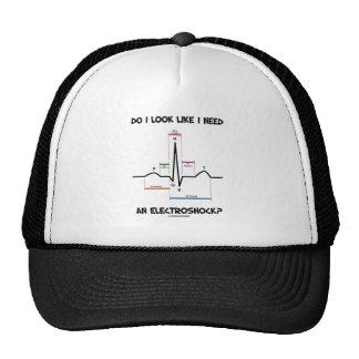 Do I Look Like I Need An Electroshock? EKG ECG Trucker Hat