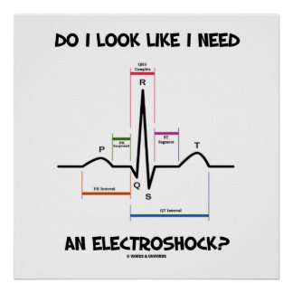 Do I Look Like I Need An Electroshock? EKG ECG Poster