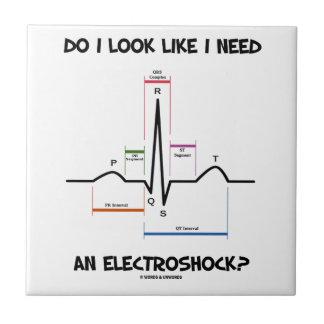 Do I Look Like I Need An Electroshock? EKG ECG Tile