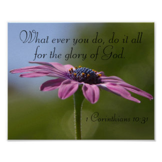 do it all for the glory of God bible verse poster