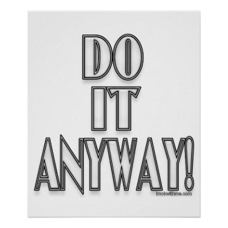 Do It Anyway! Posters
