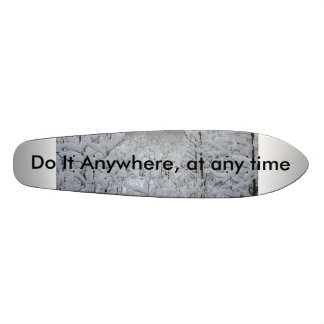Do it anywhere at anytime snow forest skate board. skateboard