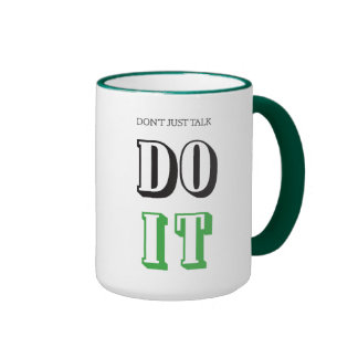 Do it! Be inspired while having your first cuppa! Ringer Mug