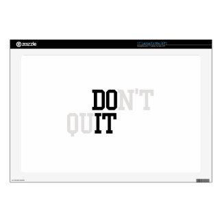Do It - Don't Quit Laptop Decals