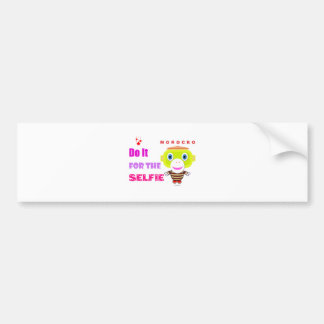 Do it for the selfie-Cute Monkey-Morocko Bumper Sticker