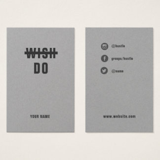 Do it. Hustle - Bold Social Media Template Card